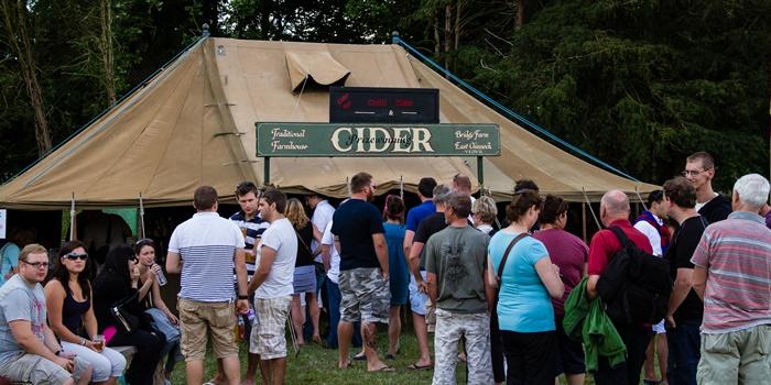 Bustling chilli cider tent!