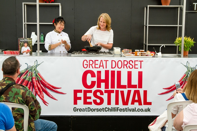 chilli cooking demonstration Dorset chilli festival